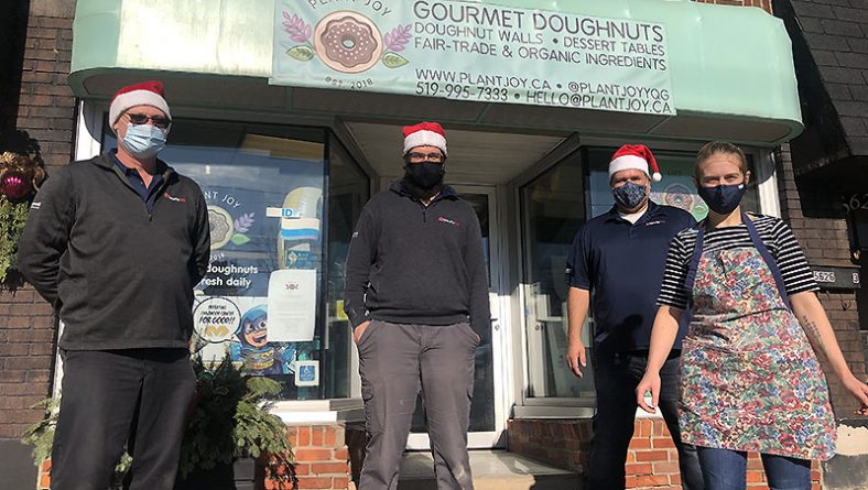 Windsor's Plant Joy Vegan Doughnut Shop Wins Security ONE Alarm's Holiday Campaign