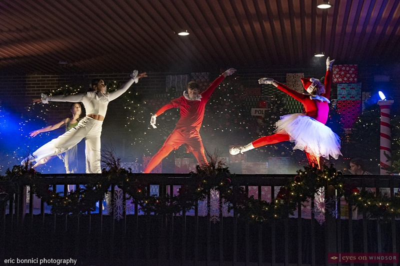Border City Dance Co. Cast Members Dancing during The Spirit of Christmas