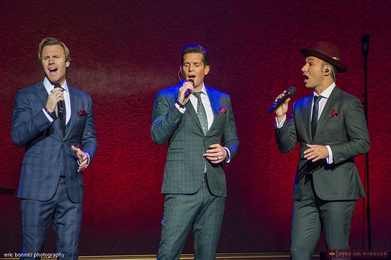 The Tenors Fraser Walters, Clifton Murray, and Victor Micallef