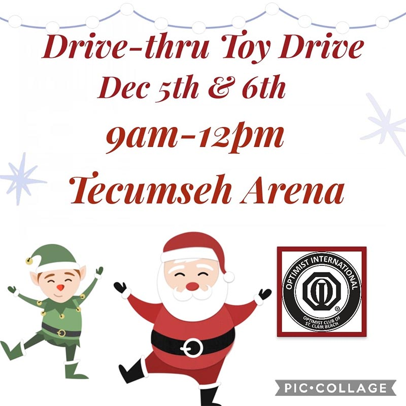 Optimist Club of St. Clair Beach Toy Drive Poster