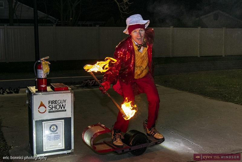 Busker Fireguy, Windsor Santa Claus Parade