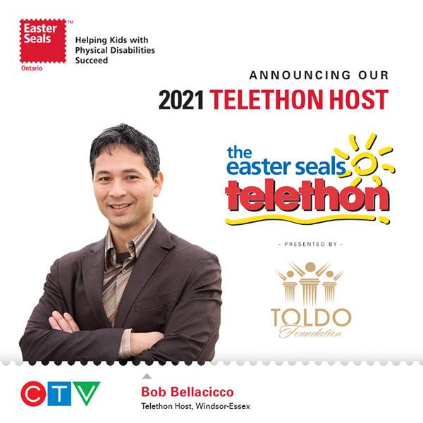 Bob Bellacicco Easter Seals Telethon Host