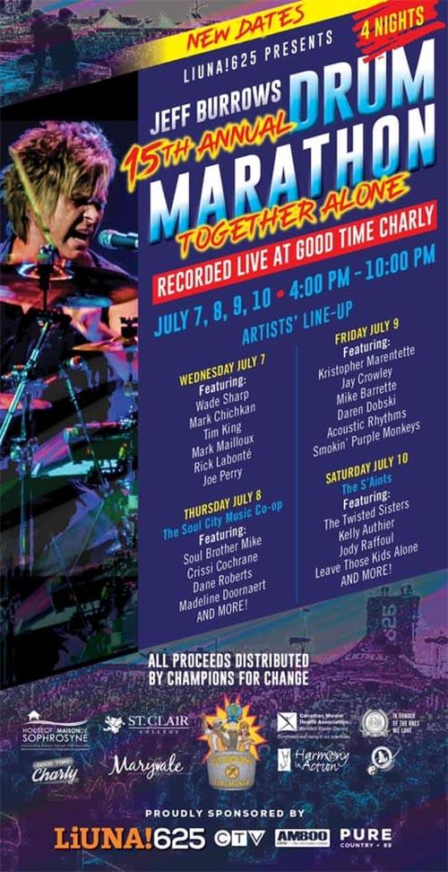 Jeff Burrows Drum Marathon Poster