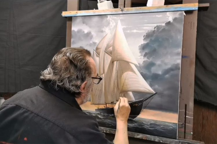 Artist Ron Suchiu Unveils Iconic Bluenose Legacy Painting on it's 100th Anniversary
