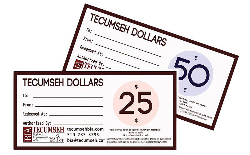 Tecumseh Dollars Tecumseh BIA
