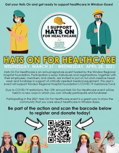 Hats on for Healthcare Day Poster