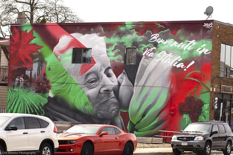 DERKZ VIA Italia Mural Erie Street Windsor