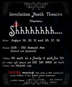 Shhhhhh... Revolution Youth Theatre Windsor