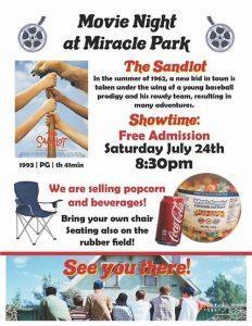 Movie Night at Miracle Park Poster