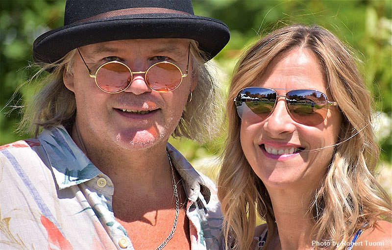 Singer songwriter Chris Bolister and his wife Tina Bolister