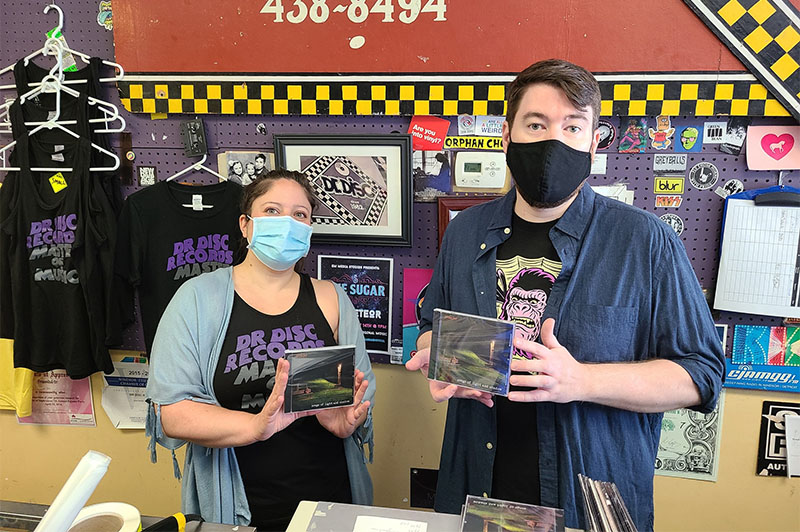 Staff at Dr. Disc Records