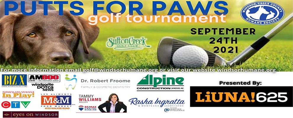 Windsor Essex County Humane Society Putts For Paws Golf Tournament
