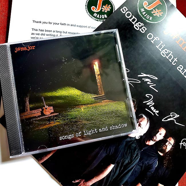 J# Marjor inaugural album Songs of Light and Shadow