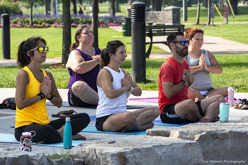 Yoga 4 Hope participants at Lakewood Park in Teucmseh