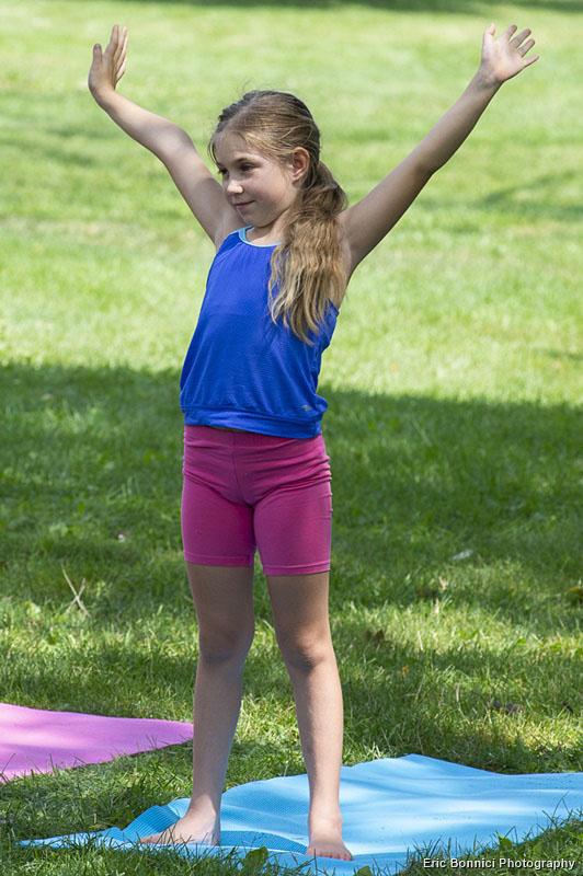 Yoga 4 Hope participant
