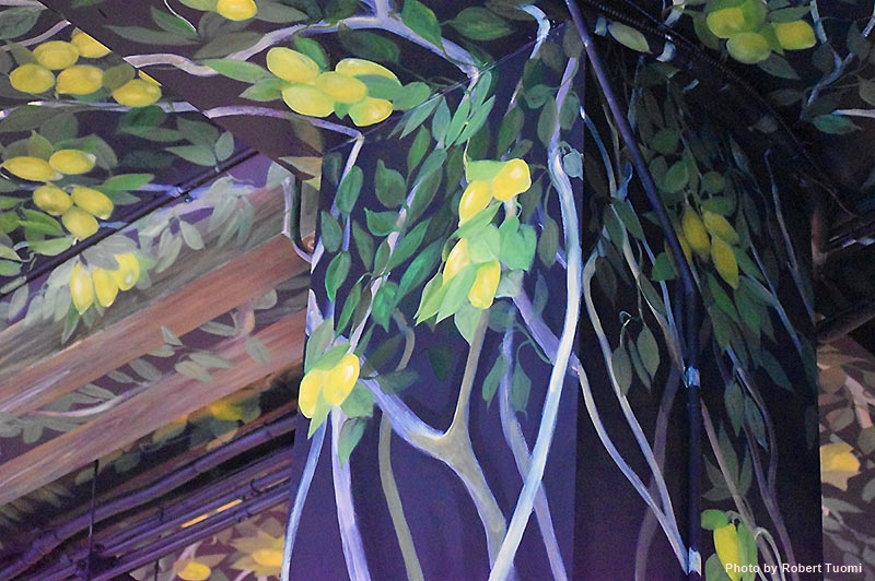 Art Motif on the Ceiling of La Vern's Market
