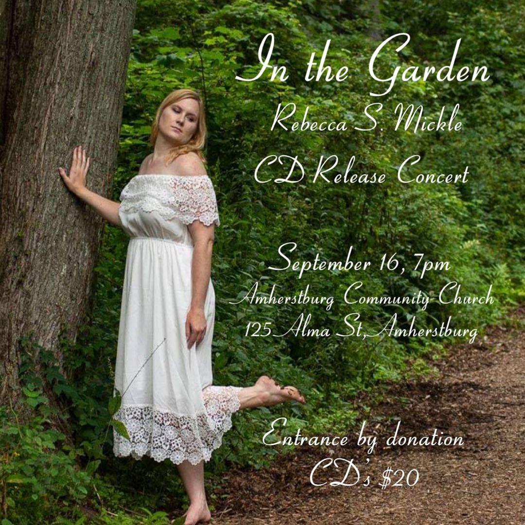 Rebecca Mickle In The Garden Album Release