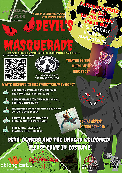 Devil's Masquerade Poster Windsor Humane Society