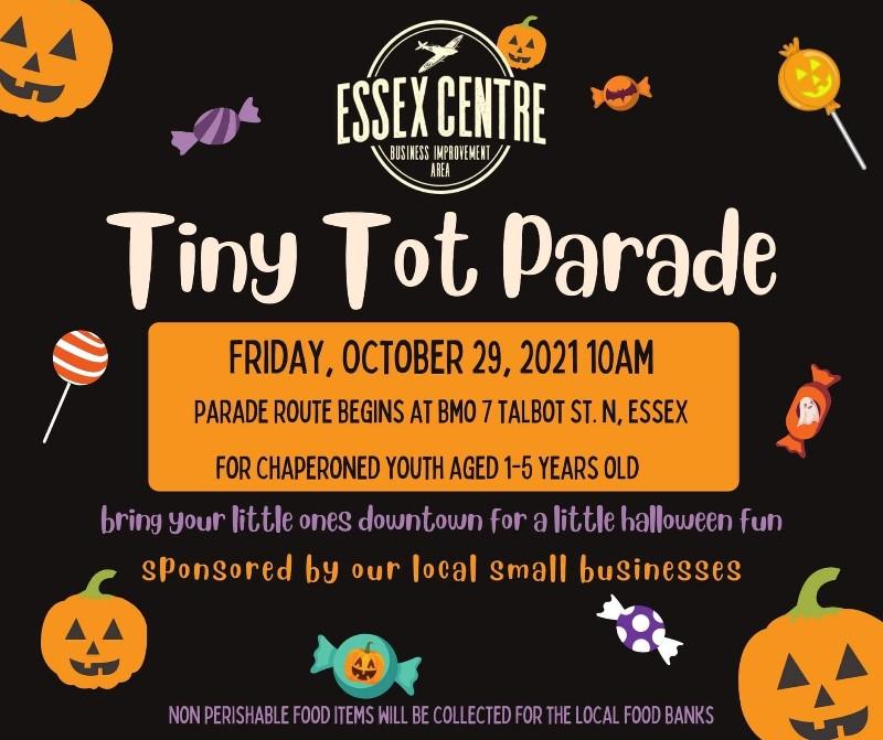 Tiny Tots Trick or Treat Parade Poster